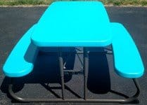 PHOTO KIDS PINIC TABLE BLUE