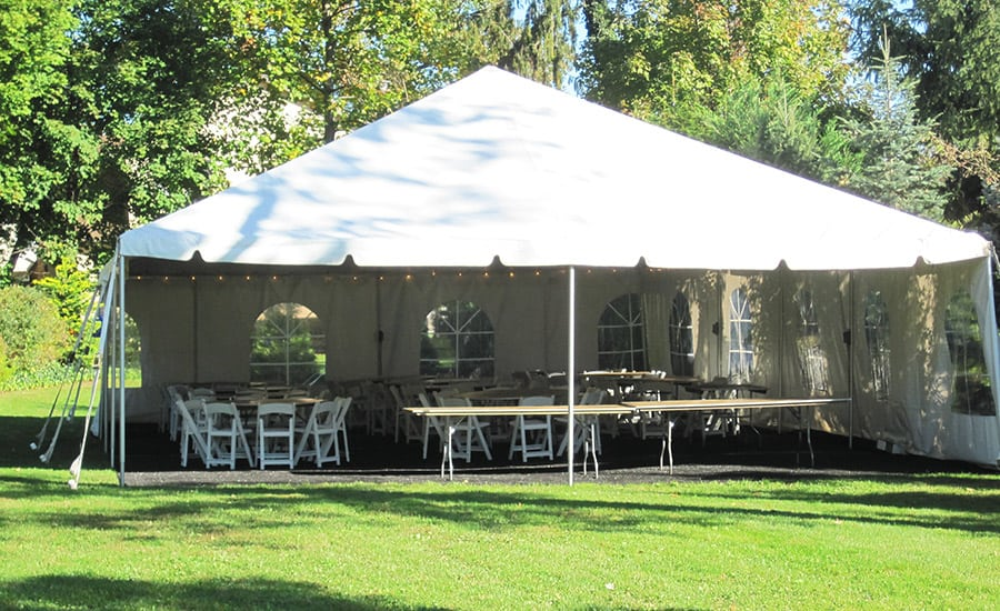 One frame tent 30×30. Three 6u2032 Banquet tables. Nine 60u2033 Round tables 90 White Folding Chairs 2 Strings of Lights $799.00 + tax ($949.00+tax Regular price)* ... & Outdoor Tent Rental Albany NY | Table and Chairs Rental Albany ...