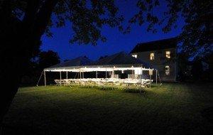 20x40 Frame Tent Night