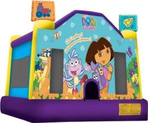 dora castle bounce house